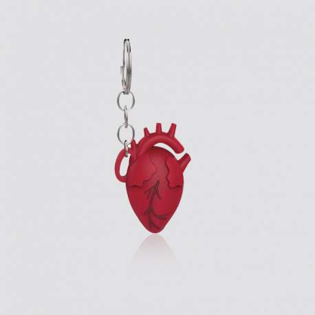 Custom PVC Heart Shaped Keychain