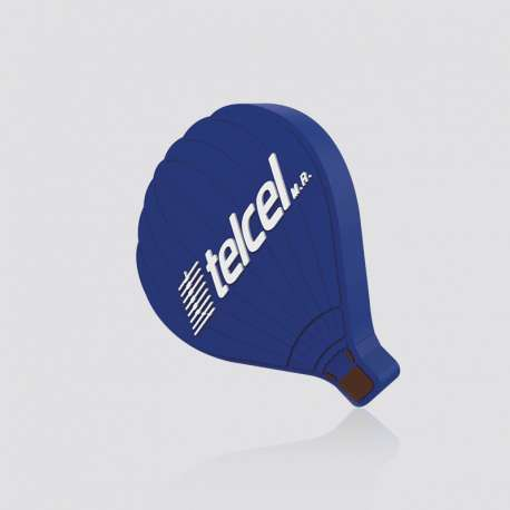 Custom PVC Wireless Charging Pad Shaped as Hot Air Balloon Telcel