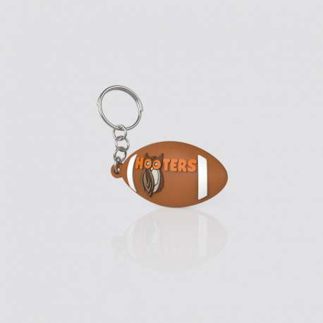 Custom PVC Shaped Ball Cozumel Keychain