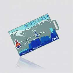 """Promotional Custom Rubber PVC Luggage Tag """"Sherwin-Williams"""""""