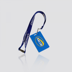 """Promotional Custom Rubber PVC Luggage Tag with Lanyard  """"Arcor"""""""