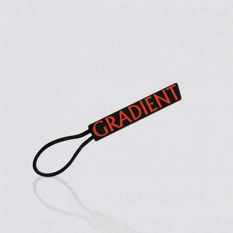 "Promotional Custom Rubber PVC Zipper Pull ""Gradient"""