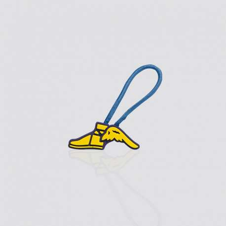 "Promotional Custom Rubber PVC Zipper Pull ""Goodyear"""