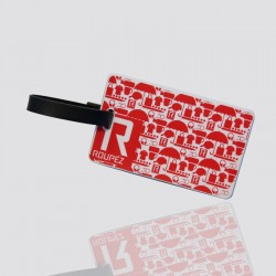 "Customized Soft PVC Luggage Tag ""ROUPEZ"""