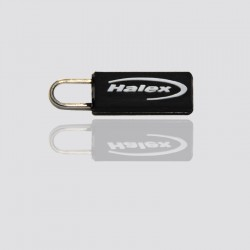 """Custom Key Fetch Zipper Tag """"HALEX"""""""