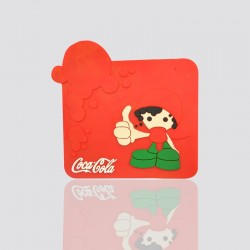 "Custom Shaped Coaster Design ""COCA COLA"""