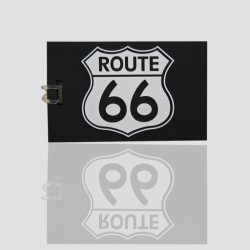 "100% Custom Shaped Luggage Id ""ROUTE 66"""