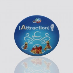 "100% Custom Shaped Coaster ""ATTRACTION"""