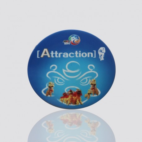 "100% Custom Shaped Coaster ""ATTRACTION"""