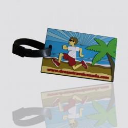 "Customized Soft PVC Luggage Tag ""DREAM TREVEL CANADA"""