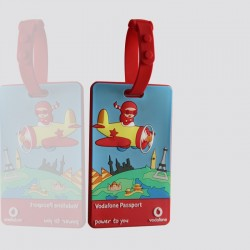 "Luggage Tag Custom Shaped ""VODAFONE"""