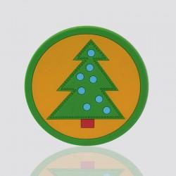 "Customized PVC Coaster ""CHRISTMAS"""
