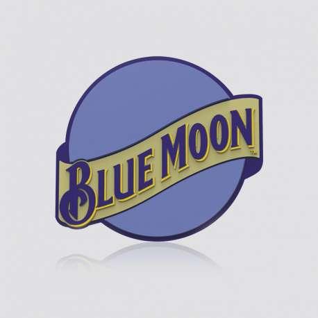 Custom Shaped Coaster Blue Moon